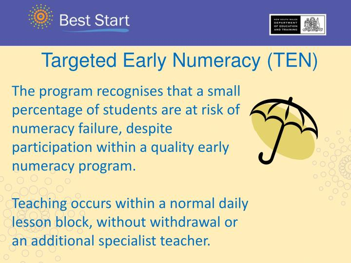 Targeted Early Numeracy (TEN)