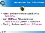 ownership and affiliations1
