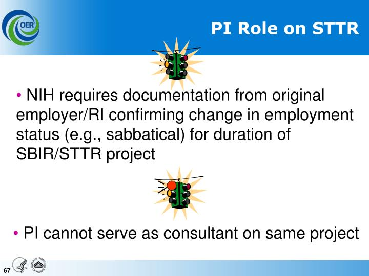 PI Role on STTR