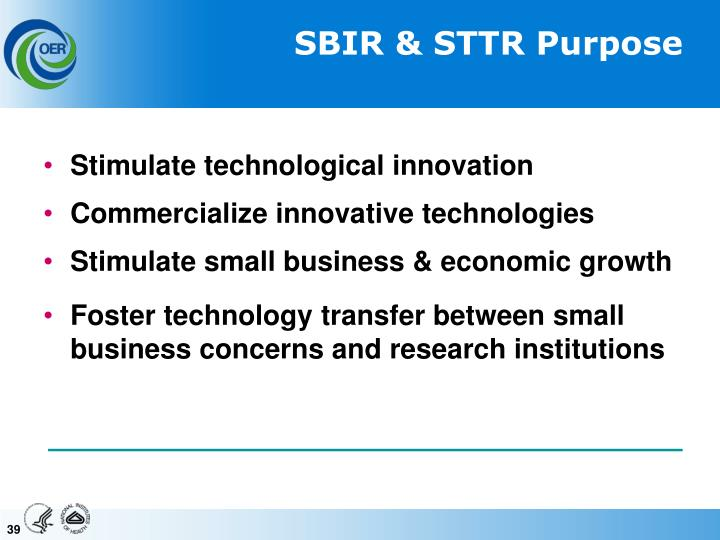 SBIR & STTR Purpose