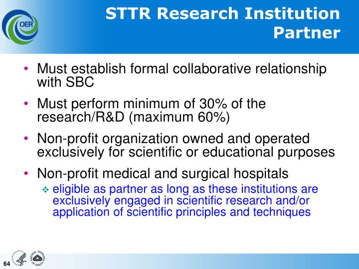 STTR Research Institution Partner