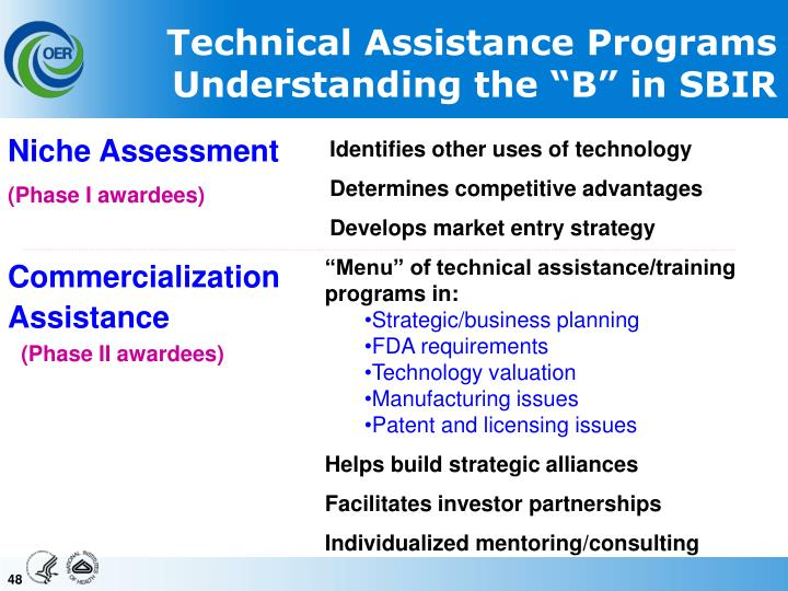 Technical Assistance Programs