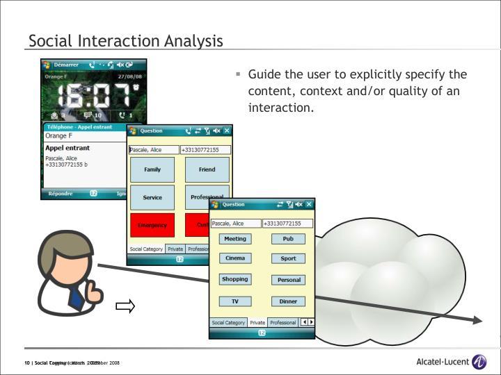 Social Interaction Analysis