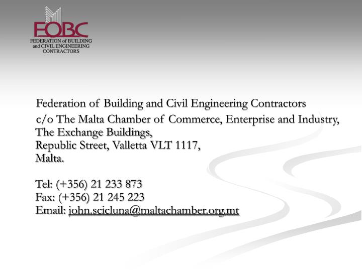 Federation of Building and Civil Engineering Contractors