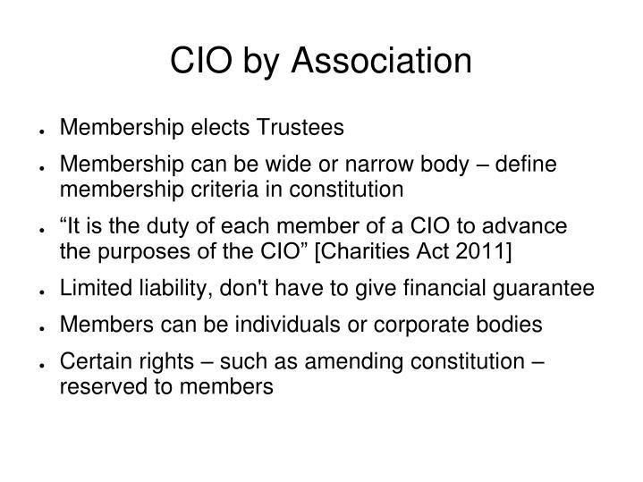 CIO by Association