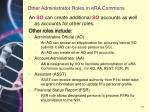 other administrator roles in era commons