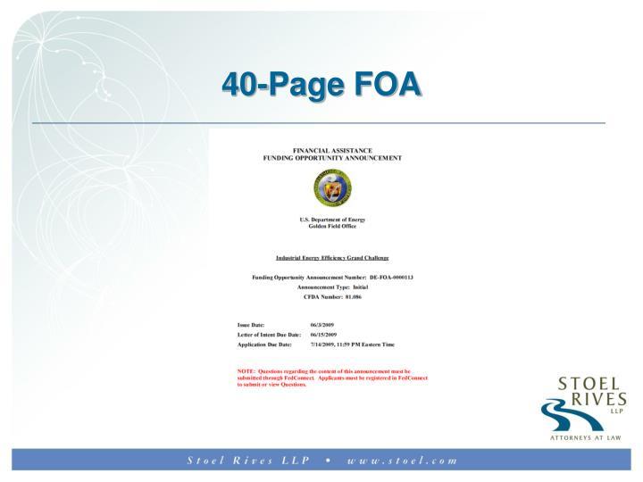 40-Page FOA