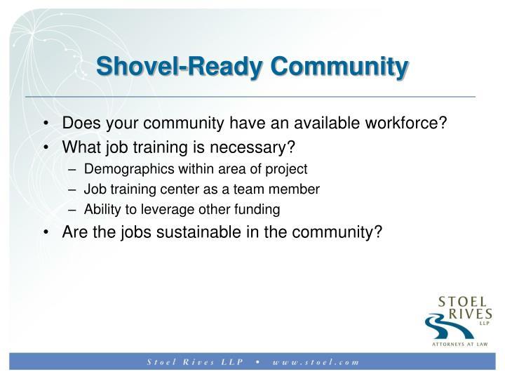 Shovel-Ready Community