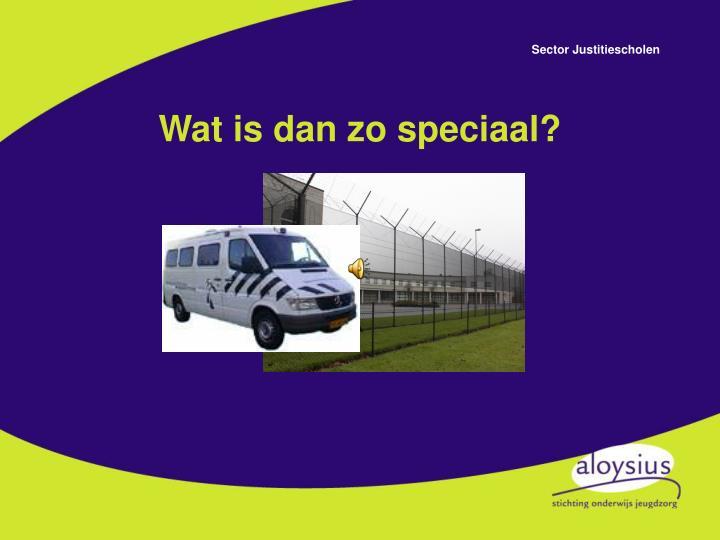 Wat is dan zo speciaal?