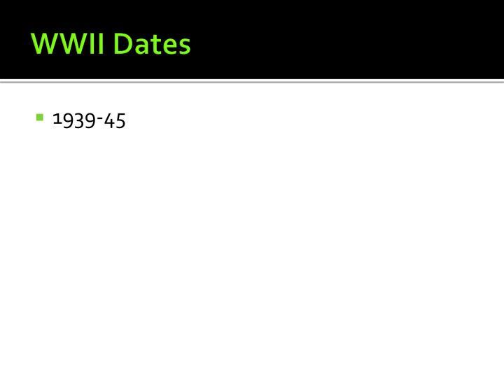 WWII Dates
