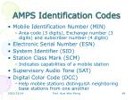 amps identification codes