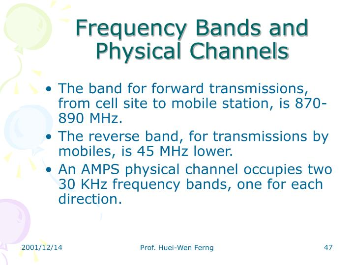 Frequency Bands and Physical Channels