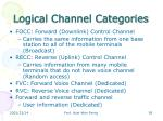 logical channel categories
