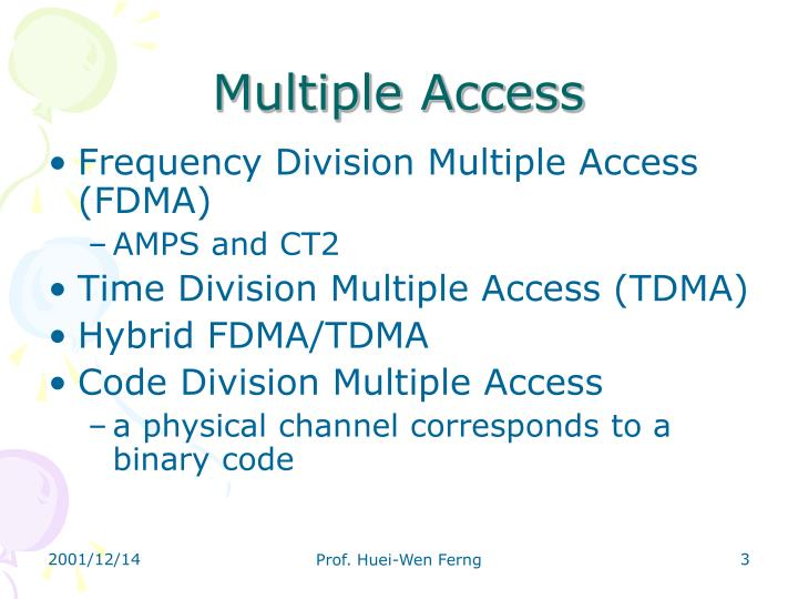 Multiple access