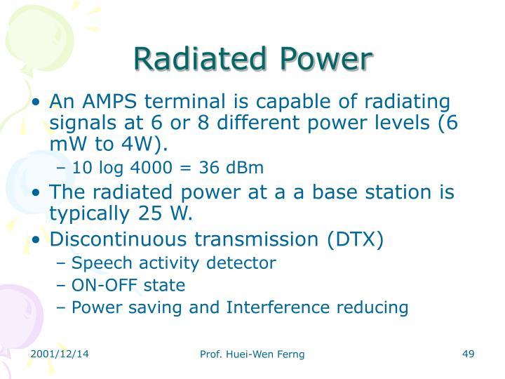Radiated Power