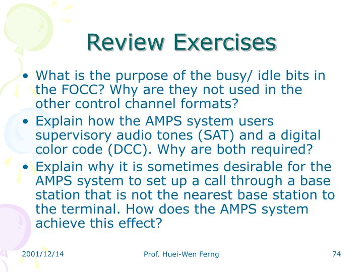 Review Exercises
