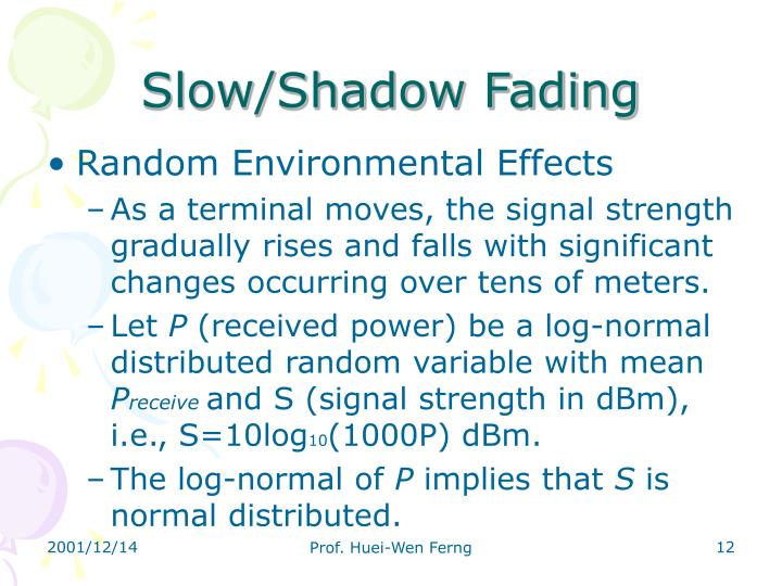 Slow/Shadow Fading