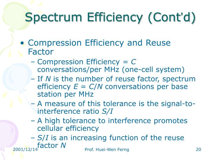 Spectrum Efficiency (Cont