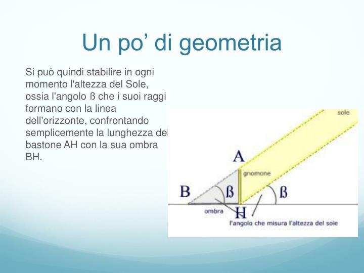 Un po' di geometria