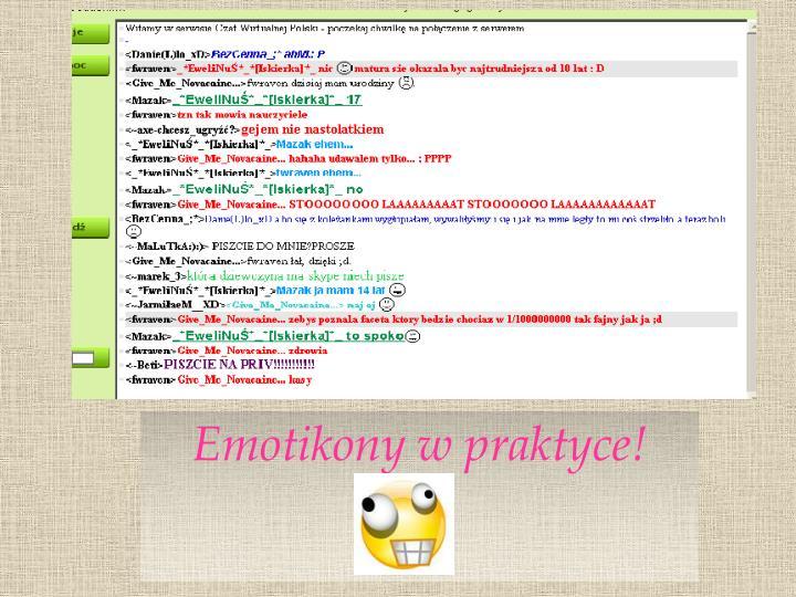 Emotikony w praktyce!