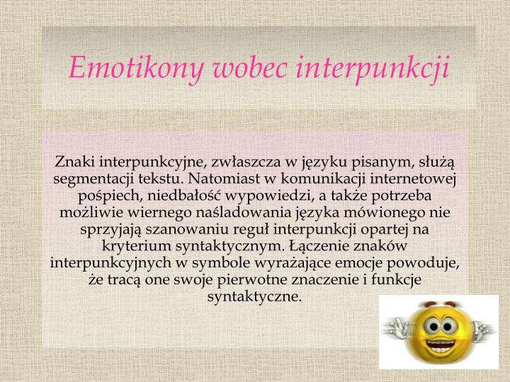Emotikony wobec interpunkcji
