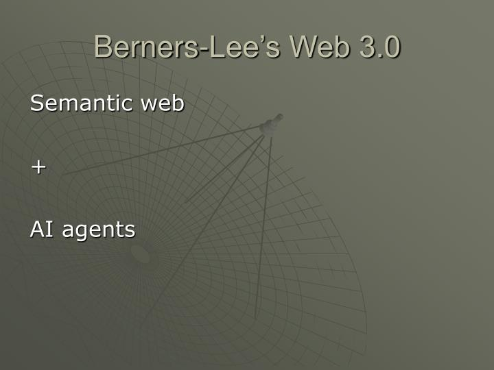 Berners-Lee's Web 3.0