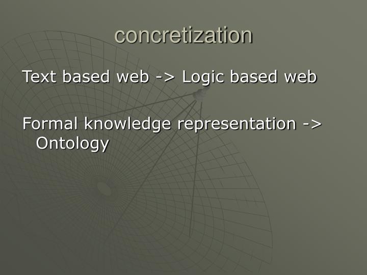 concretization