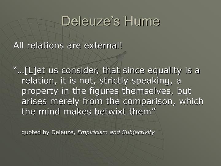 Deleuze's Hume