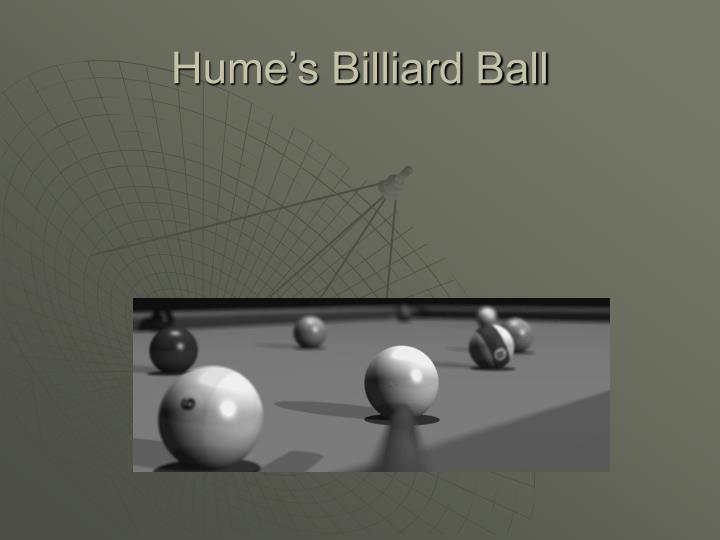 Hume's Billiard Ball