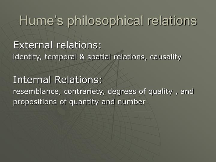 Hume's philosophical relations