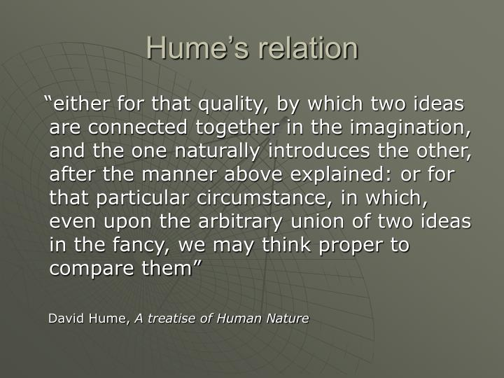 Hume's relation