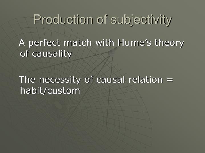 Production of subjectivity
