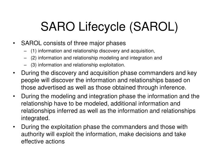 SARO Lifecycle (SAROL)