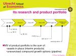 its research and product portfolio