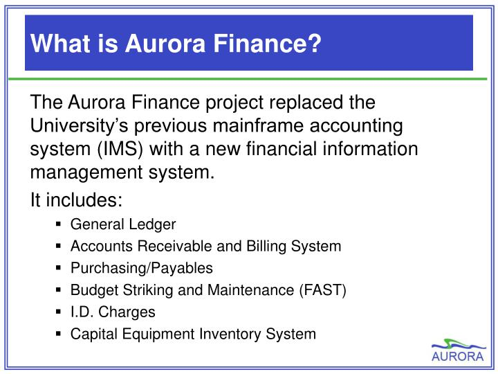 What is Aurora Finance?