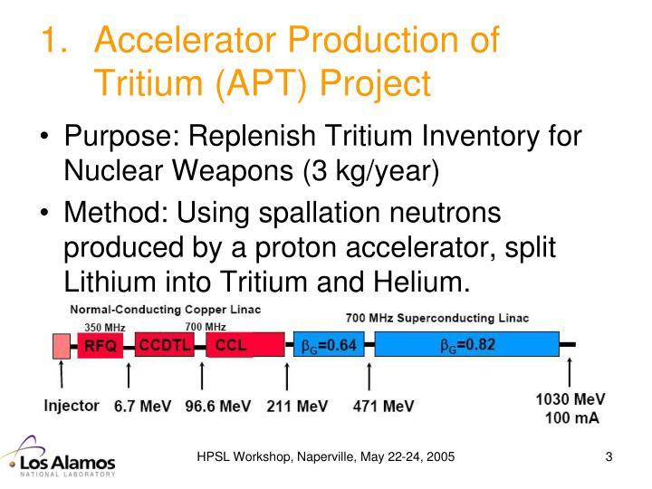Accelerator Production of Tritium (APT) Project