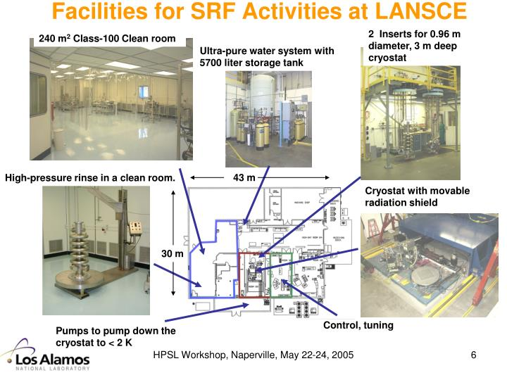 Facilities for SRF Activities at LANSCE