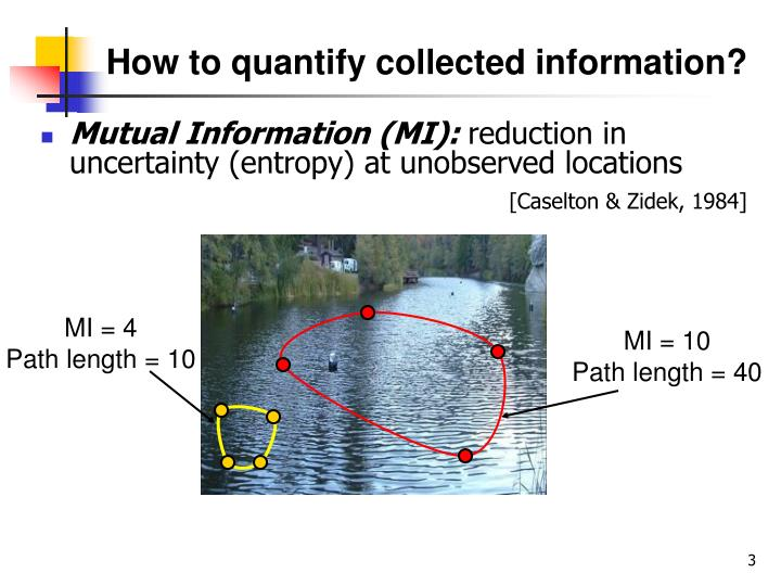 How to quantify collected information?
