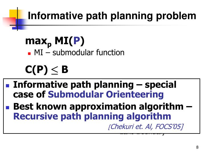 Informative path planning problem
