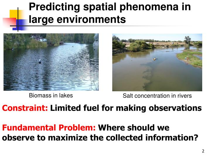 Predicting spatial phenomena in large environments