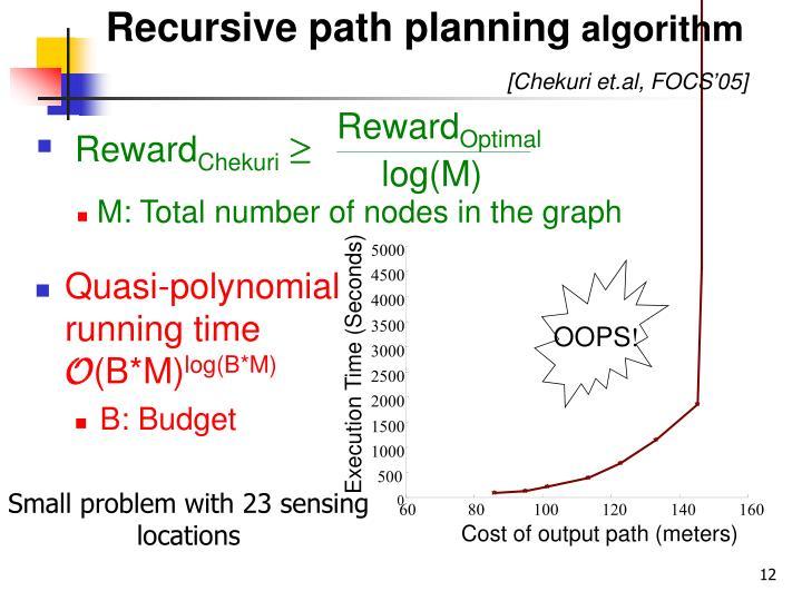 Recursive path planning