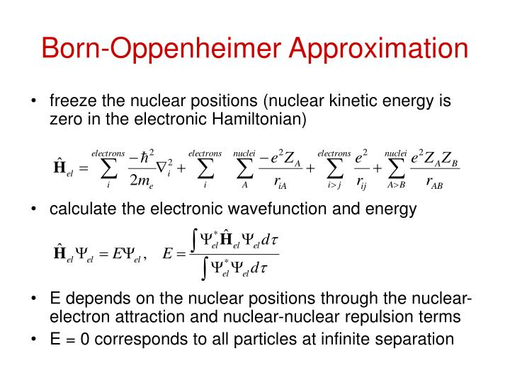 Born-Oppenheimer Approximation