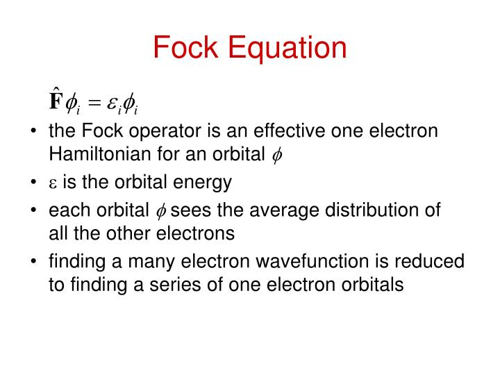 Fock Equation