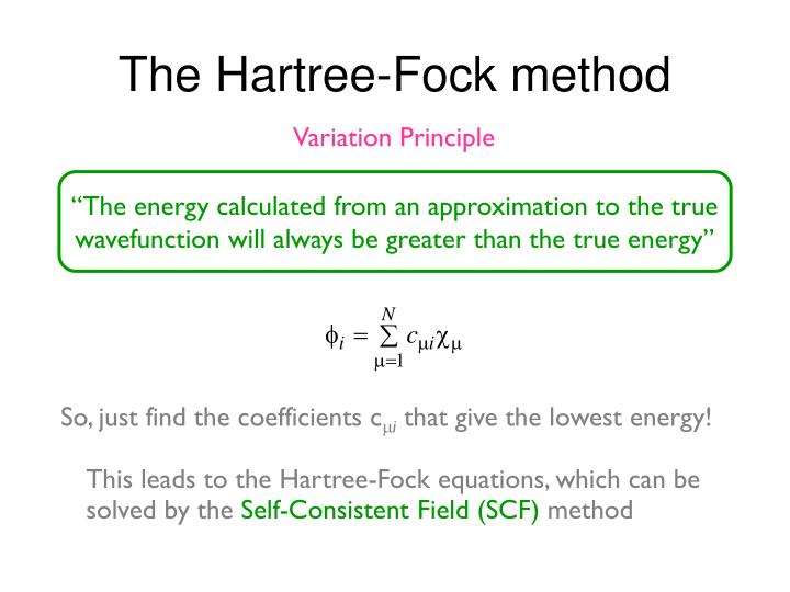 """The energy calculated from an approximation to the true"