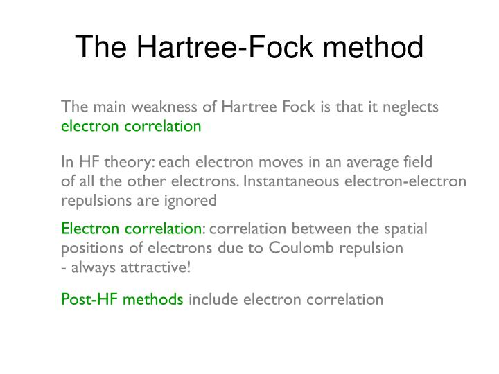 The Hartree-Fock method