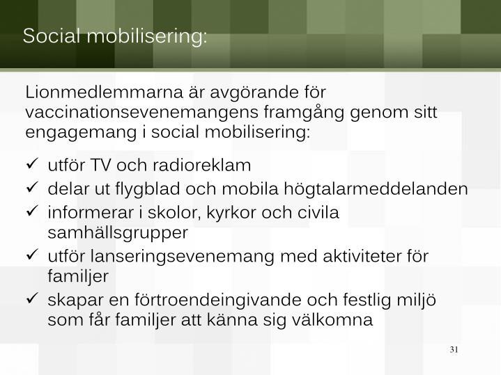 Social mobilisering: