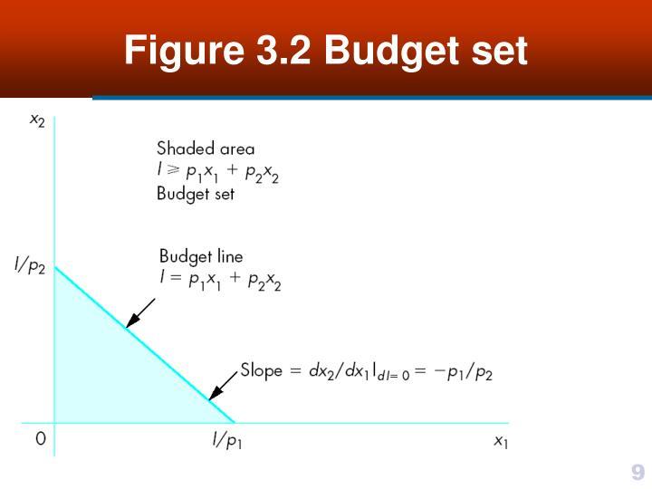 Figure 3.2 Budget set