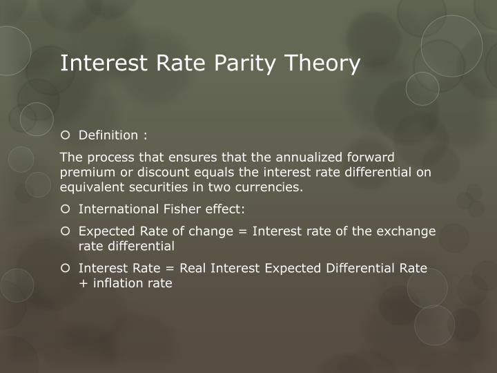 Definition of interest rate parity forex trading for Terest definition