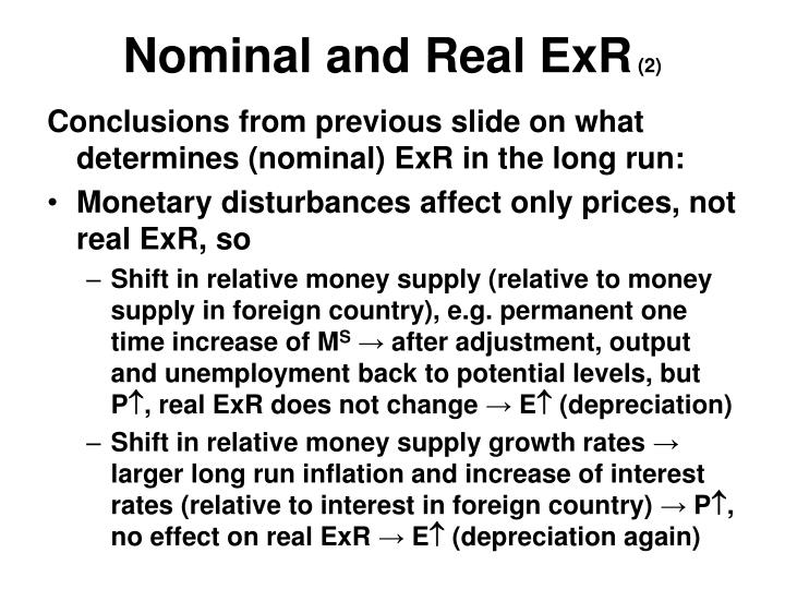 Nominal and Real ExR