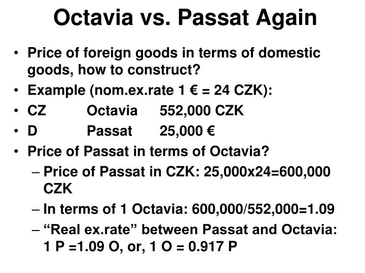 Octavia vs. Passat Again